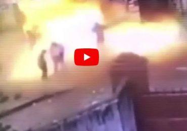 VIDEO : चायनामधील दुकानातील स्फोट पाहा, थरकाप उडेल!