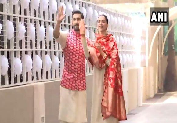 VIDEO : रणवीर-दीपिकाचं मुंबईत आगमन, ग्रॅंड रिसेप्शनचं आयोजन