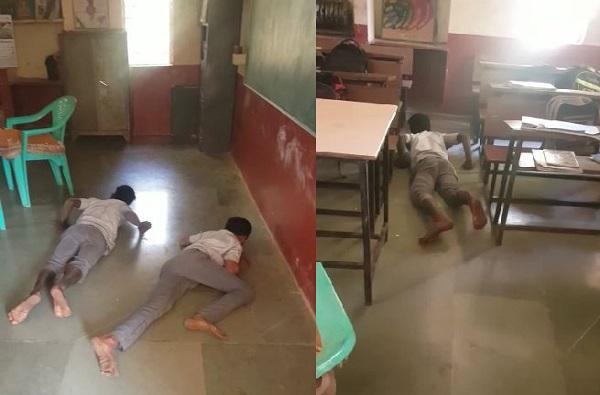 , 3 विद्यार्थी 15 दिवसांपासून सरपटत शाळेत, अन्य विद्यार्थ्यांमध्ये घबराट