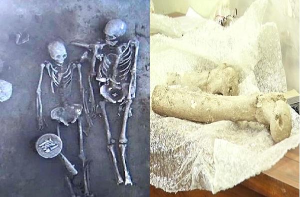 पाच हजार वर्षांपूर्वीचा स्त्री-पुरुषाचा सांगाडा बाहेर
