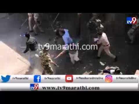 मुंबई : नालासोपाऱ्यात रेल्वेरोको, धुमश्चक्री आणि लाठीचार्ज