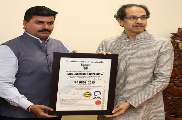 राहुल शेवाळे ISO मानांकन मिळवणारे देशातले पहिले खासदार
