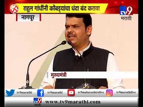राहुल गांधींनी कोंबड्यांचा धंदा बंद करावा : मुख्यमंत्री