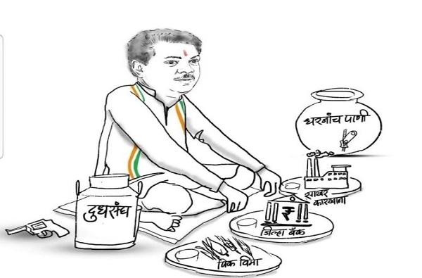 , उस्मानाबादेत कार्टून वॉर, दिवंगत पवनराजेंवर राष्ट्रवादीची जहरी टीका