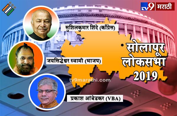 Solapur Lok Sabha Result 2019 : सोलापूर लोकसभा मतदारसंघ निकाल