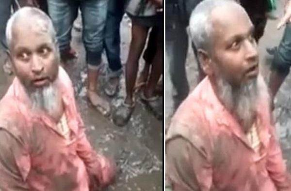 VIDEO: आसाममध्ये गोमांस विकल्याच्या संशयावरुन मुस्लीम वृद्धाला बेदम मारहाण