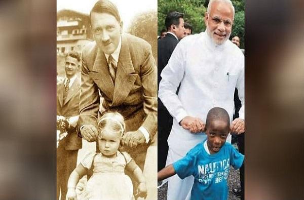 व्हायरल वास्तव : मोदी आणि हिटलरच्या 'या' फोटोमध्ये खरंच साम्य?
