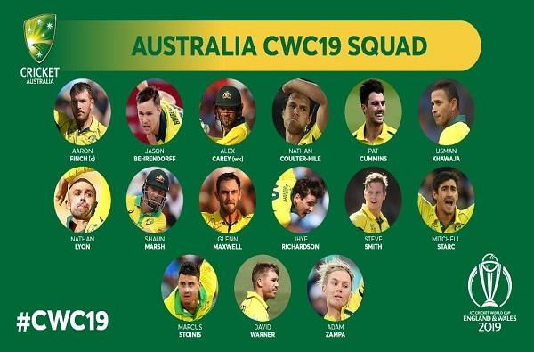 ICC World Cup 2019 : ऑस्ट्रेलियाचा संघ जाहीर, स्मिथ-वॉर्नर परतले