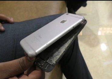 अंबरनाथमध्ये चार्जिंगला लावलेल्या आयफोनचा स्फोट