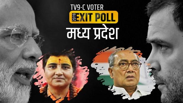 TV9-C Voter Exit Poll : मध्य प्रदेशात भाजपला फटका, काँग्रेसला लाभ