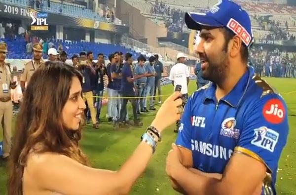 IPL 2019: आयपीएल विजयानंतर पत्नी रितिकाचे रोहितला 3 प्रश्न