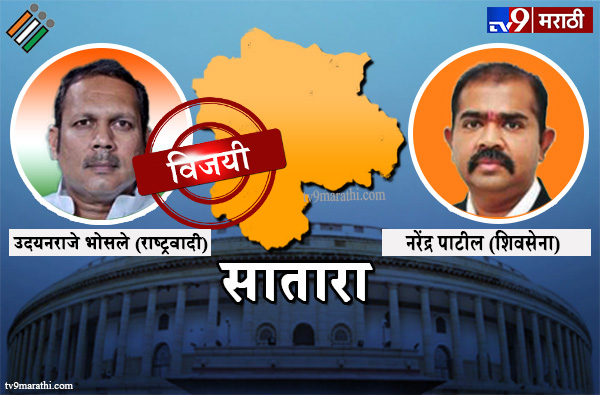 Satara Lok sabha result 2019 : सातारालोकसभा मतदारसंघ निकाल