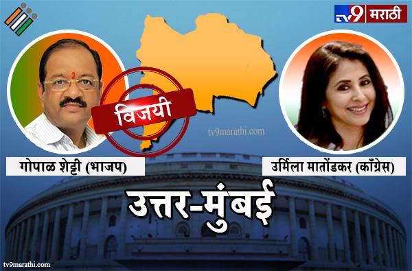 Mumbai North Lok sabha result 2019 : उत्तर मुंबईलोकसभा मतदारसंघ निकाल